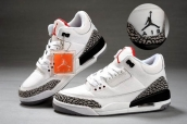 AAA Air Jordan 3 Women Leather White Black