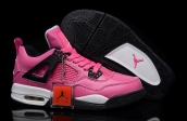 AAA Air Jordan 4 Women Pink Black