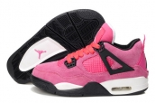 AAA Air Jordan 4 Women Suede Pink Black