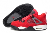 AAA Air Jordan 4 Women Suede Red Grey