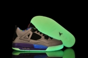 Air Jordan 4 Glow In Dark Women Grey Black Pink Blue Purple