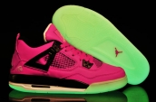 Air Jordan 4 Glow In Dark Women Oreo Pink Black