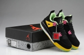 Air Jordan 4 Women AAA Black Yellow Green