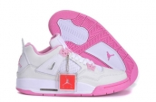 Air Jordan 4 Women AAA White Pink