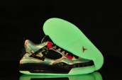 Women Air Jordan 4 Glow In Dark Maple Leaf
