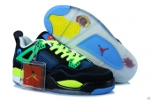 AAA Air Jordan 4 Women Black Blue Green