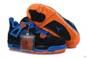 AAA Air Jordan 4 Women Black Blue Orange