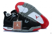 AAA Air Jordan 4 Women Black Grey Red