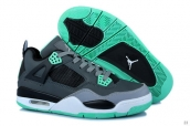 AAA Air Jordan 4 Women Darkgray Black Green