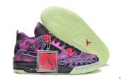 AAA Air Jordan 4 Women Star Purple Black Limited Edition Glow