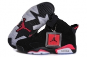 AAA Women Air Jordan 6 Black Red