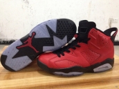 AAA Women Air Jordan 6 Toro Red Black 140
