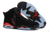 AAA Air Jordan 6 Women Black Red 160