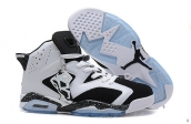 AAA Air Jordan 6 Women White Black 160