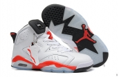 AAA Air Jordan 6 Women White Red 160