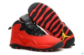 AAA Air Jordan 10 Women Red Black