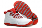 AAA Air Jordan 10 Women White Red