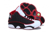 AAA Air Jordan 13 Women Black Red White