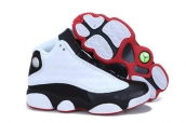 AAA Air Jordan 13 Women White Black