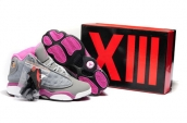 AAA Air Jordan 13 Women Grey Pink