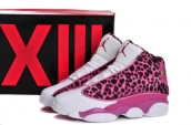 AAA Women Air Jordan 13 Leopard Roes Red White
