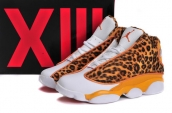 AAA Women Air Jordan 13 Leopard Yellow White