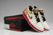 Air Jordan 1 Low Sail Sport Fuschia Metallic Gold AAA
