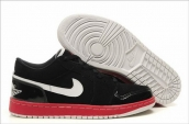 AAA Air Jordan 1 Low suede balck red white