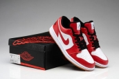 Air Jordan 1 Phat Low White Varsity Red Black AAA
