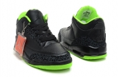 Air Jordan 3 Black Neon Green Collection AAA sale