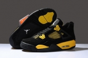 Air Jordan 4 Black Yellow Suede AAA