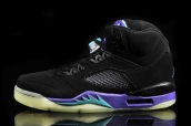 Air Jordan 5 Black Grape Glow In The Dark AAA