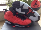 Perfect Air Jordan 6 Toro Red Black 260
