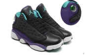 Perfect Air Jordan 13 Women Black Green Purple 260