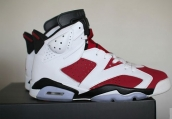 Air Jordan 6 Carmine White Red AAA