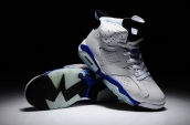 Air Jordan 6 grey blue Leather AAA