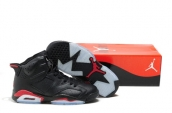 Air Jordan 6 Infrared Black Red Leather AAA