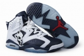 Air Jordan 6 Navy white Leather AAA