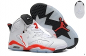 Air Jordan 6 White Red  Infrared AAA