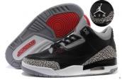 Super Perfect Air Jordan 3 Leather Black Grey 420