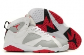 Air Jordan 7 white red discount on sale