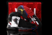 Air Jordan 8 Playoffs Black Black True Red AAA