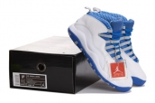 Air Jordan 10 White Blue AAA