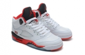 Air Jordan 5 Perfect White Black Red