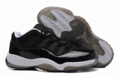 AAA Air Jordan 11 Low Black White
