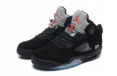 Air Jordan 5 Perfect Black Grey Red