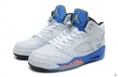 Air Jordan 5 Perfect White Blue Black