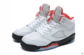 Air Jordan 5 Perfect White Red Black