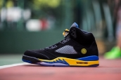 Air Jordan 5 Retro Perfect Shanghai Black Blue Yellow