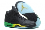 Perfect Air Jordan 5 Elephant Print Black Green Yellow 200